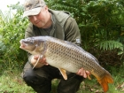 Kieron Axten 18lbs 0oz Common Carp from Calf Heath Reservoir using Carp Company Icelandic Red Cranberry & Caviar.. Fishing with Eric Ward - the best of several fish in a short session.