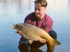 Kieron Axten 13lbs 9oz Ghost Common Carp from Trentham Gardens using Mainline Grange CSL.