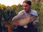 Kieron Axten 17lbs 6oz Mirror Carp from Willowgrove Leisure Park using Mainline Grange CSL.. 29th to 30th August. Some nice bream to 4lb, a clonking eel. Lost 3 carp, 4 caught from roadside, 2 from