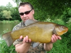 12lbs 0oz Tench from Lac Du Val using Quest Baits Lac Du Val Specials.. This was a two week trip to the heavenly Angling Lines venue - Lac du Val.