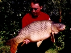 Kieron Axten 30lbs 0oz Common Carp from Les Quis. This was the most productive of our trips to Les Quis with 19 carp during the week. This one was stalked on a patch of bubbles found on the end of