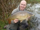 12lbs 4oz Common Carp from Birch House Lakes using Quest Bait  - Surf n Turf.. Using stalking tactics - Pellet Waggler Rod, Centerpin reel and 6 lbs line.