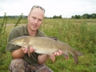 10lbs 13oz Barbel from River Dove using Quest Baits - Halibut pellets.. Caught from far bank tree on feeder fished halibut pellet. Drennan Feeder was fished sandwich style with groundbait and