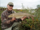 10lbs 13oz Barbel from River Dove using Quest Baits Special Crab +.. Caught fishing crease. Used straight lead (Korda Grippa) with 10lbs Flourocarbon Hooklength and size 10 Dreenan hook.